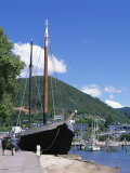 ASEcho Moored in Harbour at Picton  Marlborough Sounds  Marlborough  New Zealand
