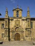 Exterior of Plateresque Facade of the University at Onati  Pais Vasco  Basque Area  Spain  Europe