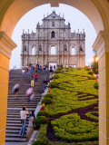 Facade of St Paul&#39;s Cathedral  Macau  China