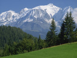 Mont Blanc  Haute Savoie  Rhone Alpes  Mountains of the French Alps  France  Europe