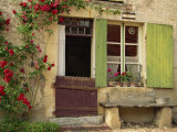 House with Green Shutters  in the Nevre Region of Burgundy  France  France
