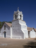 White Church at San Pedro Oasis in the Atacama Desert  Chile  South America