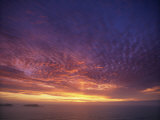 Colourful Skies at Dusk  over Seascape  New Zealand  Pacific