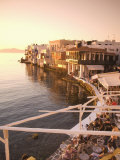 Little Venice  Chora  Mykonos  Cyclades  Greek Islands  Greece  Europe
