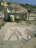 Mosaic  the House of Gladiators  Kourion  Cyprus  Europe