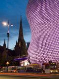 Selfridges and St Martins Church at Dusk  Birmingham  England  United Kingdom  Europe