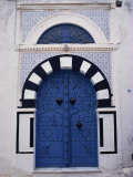 Doorway  Sidi Bou Said  Tunisia  North Africa  Africa