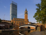 301 Deansgate  St George's Church  Castlefield Canal  Manchester  England  United Kingdom  Europe