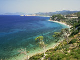 Beach and Coastline Near Kokkari  Samos  Dodecanese Islands  Greek Islands  Greece  Europe