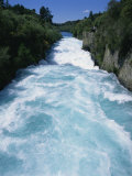 Hukanui  the Huka Falls on the Waikato River  North Island of New Zealand  Pacific