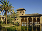 Alhambra Palace in Granada  UNESCO World Heritage Site  Andalucia  Spain  Europe