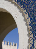 Detail  Bab Boujeloud City Gate  Medina  Fez  Morocco  North Africa  Africa