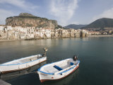 Traditional Fishing Boats and Fishermens Houses  Cefalu  Sicily  Italy  Europe
