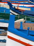 Colourful Traditional Fishing Boats  Aci Trezza  Sicily  Italy  Europe