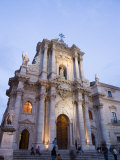 Cathedral in the Evening  Piazza Duomo  Ortygia  Syracuse  Sicily  Italy