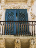 Baroque Balcony  Palazzo Nicolaci  Noto  Sicily  Italy  Europe