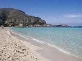 Beach  Mondello  Palermo  Sicily  Italy  Mediterranean  Europe