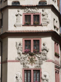 Decorative Facade of House  Karlova  Old Town  Prague  Czech Republic  Europe