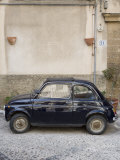 Fiat 500 Car  Cefalu  Sicily  Italy  Europe