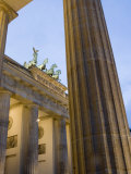 Brandenburg Gate at Dusk  Pariser Platz  Berlin  Germany  Europe