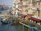 View of Grand Canal and Riva Del Vin from Rialto Bridge  Venice  Veneto  Italy