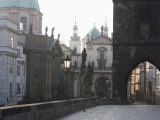 Charles Bridge  Church of St Francis Dome  Old Town Bridge Tower  Old Town  Prague  Czech Republic