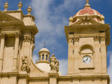 Detail of Cathedral  Noto  Sicily  Italy  Europe