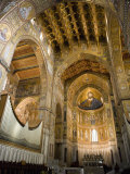 Altar  Interior of the Cathedral  Monreale  Palermo  Sicily  Italy  Europe