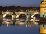 Charles Bridge and Smetana Museum Reflected in the River Vltava  Old Town  Prague  Czech Republic