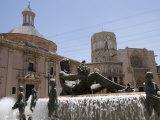 Plaza De La Virgen  Valencia  Costa Del Azahar  Spain