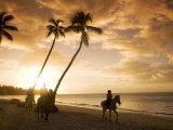 Las Terrenas at Sunset  Samana Peninsula  Dominican Republic  West Indies  Caribbean
