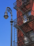 Building Fire Escape in Greenwich Village  Downtown Manhattan  New York City  New York  USA