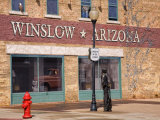 Standing on the Corner Park  Historic Route 66  Winslow  Arizona  USA