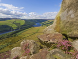Ladybower Reservoir  Whinstone Lee Tor  Derwent Edge  Peak District National Park  England