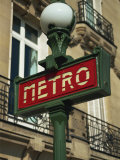 Metro Sign  Paris  France  Europe