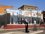 Copper Block Mural  National Historic District  Butte  Montana  USA
