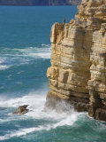 Fisherman on the Edge of the Cliff  Cape St Vincent Peninsula  Sagres  Algarve  Portugal