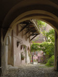 Alleyway  Sighisoara  Transylvania  Romania  Europe
