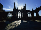 Christian Cathedral Ruins  Coventry  Warwickshire  West Midlands  England  UK