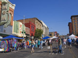 Farmers Market on Main Street  National Historic District  Butte  Montana  USA