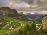 View from Passo Di Gardena  Dolomites  Italy  Europe