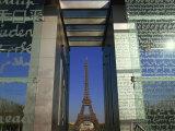 Le Mur Pour La Paix and the Eiffel Tower  Parc Du Champ De Mar  Paris  France