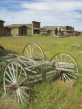 Old Western Wagons from the Pioneering Days of the Wild West at Cody  Montana  USA