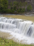 Lower Falls in Letchworth State Park  Rochester  New York State  USA