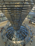 Reichstag Building  Designed by Sir Norman Foster  Berlin  Germany