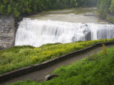 Middle Falls in Letchworth State Park  Rochester  New York State  USA