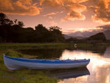 Boat  Upper Lake  Killarney National Park  County Kerry  Munster  Republic of Ireland  Europe
