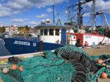 Commercial Fishing Boat  Gloucester  Cape Ann  Greater Boston Area  Massachusetts  New England  USA