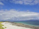 Traigh Bhan Beach and Sound of Iona  Isle of Iona  Inner Hebrides  Scotland  United Kingdom  Europe