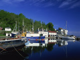 Tranquil Scene of Boats Reflected in Still Water on the Crinan Canal  Crinan  Strathclyde  Scotland